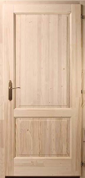 Kétbetétes egyenes fenyő beltéri ajtó