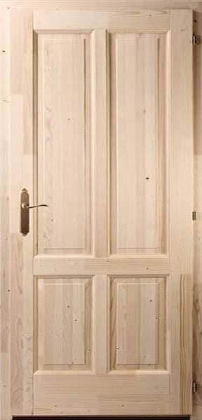 Négybetétes egyenes fenyő beltéri ajtó