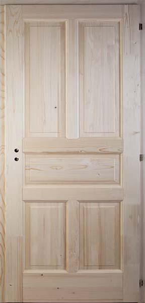 Ötbetétes egyenes fenyő beltéri ajtó