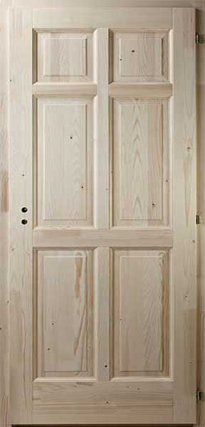 Hatbetétes fenyő beltéri ajtó