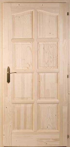 Nyolcbetétes fenyő beltéri ajtó