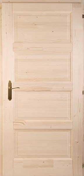 Négykazettás Zebra fenyő beltéri ajtó