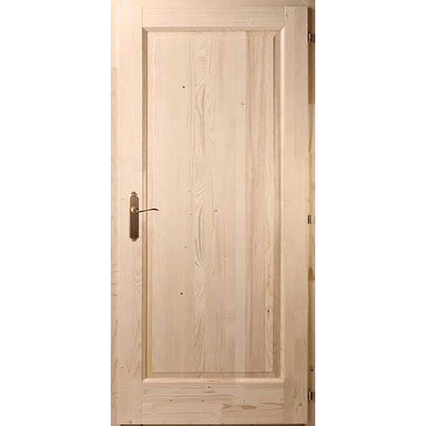 Egybetétes fenyő beltéri ajtó 75x210 tele
