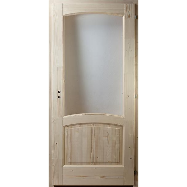 Kétbetétes kétíves fenyő beltéri ajtó 100x210 üvegezhető