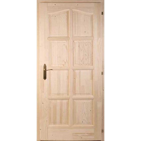 Nyolcbetétes fenyő beltéri ajtó 75x210 tele