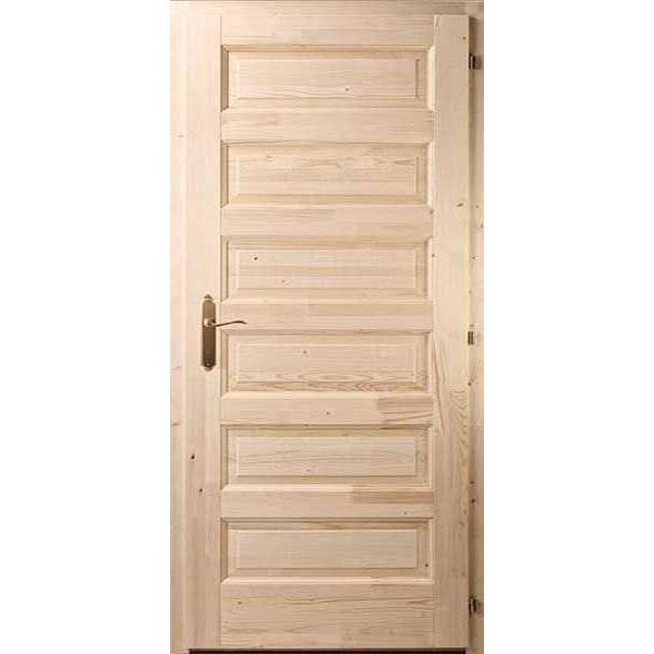 Hatkazettás Zebra fenyő beltéri ajtó 90x210 tele